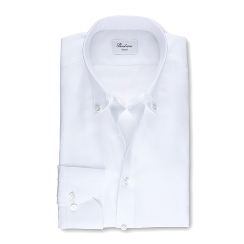 Mélange Slimline Shirt In Pinpoint Oxford