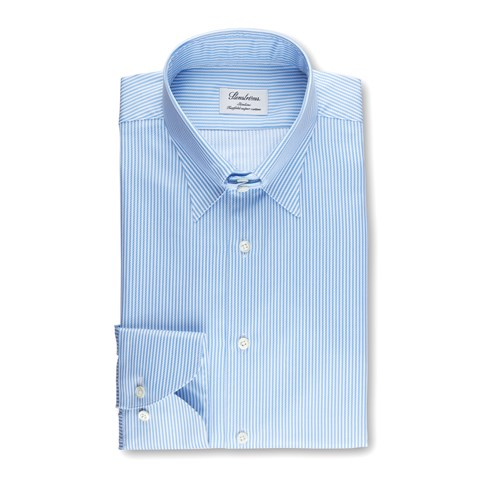 Striped Slimline Shirt With Collar
