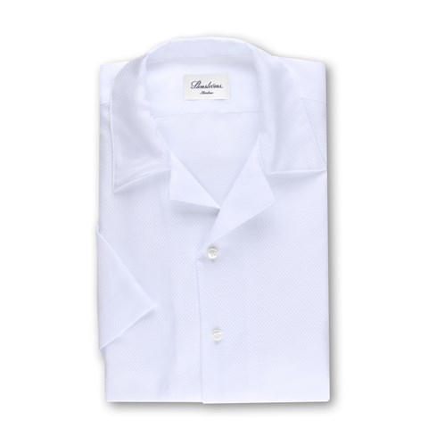 White Slimline Shirt, Short Sleeves