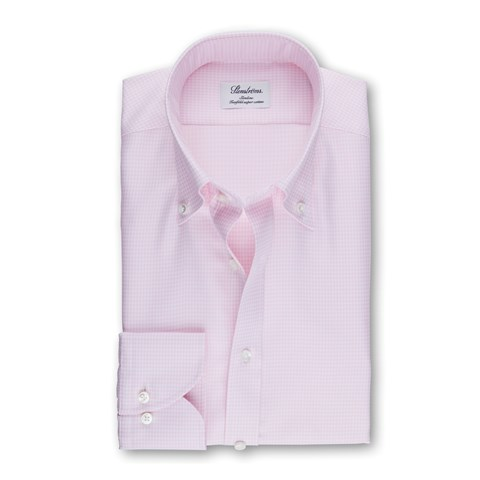 Light Pink Hounds Tooth Slimline Shirt