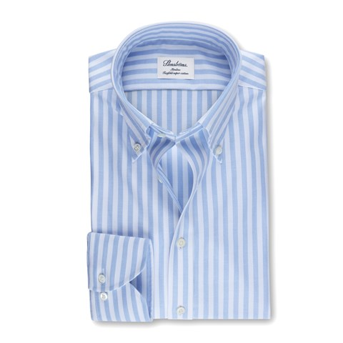 Blue Striped Slimline Oxford Shirt
