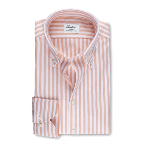 Orange Striped Slimline Oxford Shirt