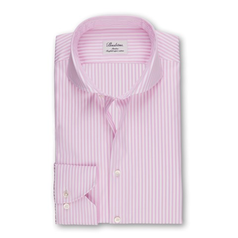 Pink Striped Slimline Shirt