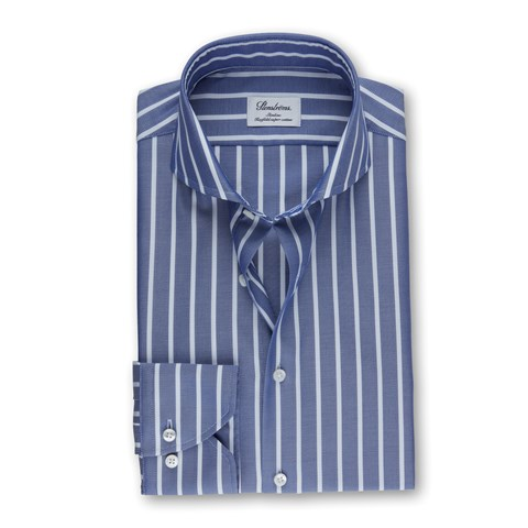Blue/White Striped Slimline Shirt