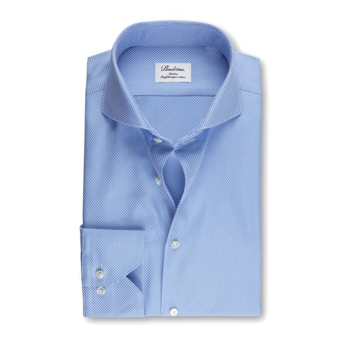 Blue Slimline Textured Shirt
