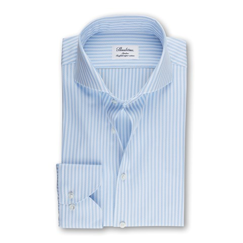 Slimline Shirt Striped Light Blue