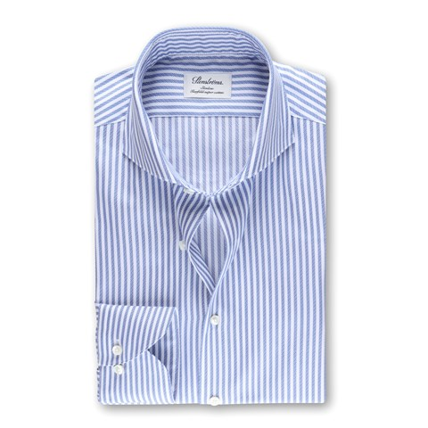 Slimline Shirt Striped Blue