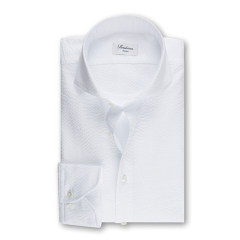 Seersucker Slimline Shirt White