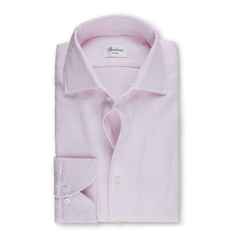 Light Pink Jacquard Slimline Shirt