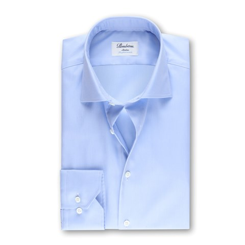 Light Blue Slimline Shirt, Twofold Stretch