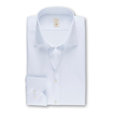 Stenströms 120 jubilee - White Slimline Shirt In Superior Twill