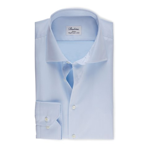 Light Blue Slimline Shirt In Superior Twill, Extra Long Sleeves