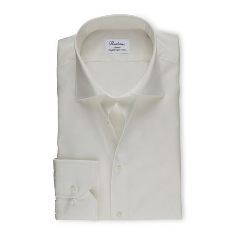 Slimline Shirt In Superior Twill Off-White