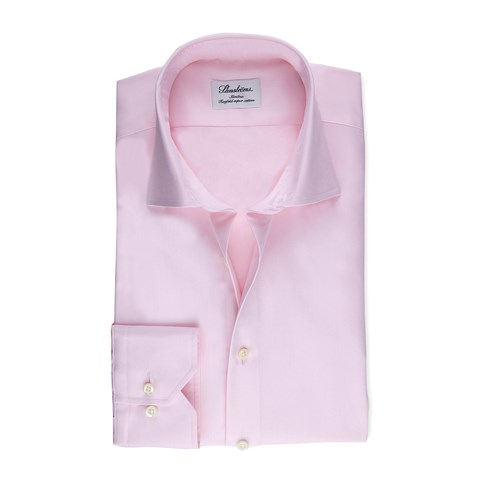 Light Pink Slimline Shirt In Superior Twill