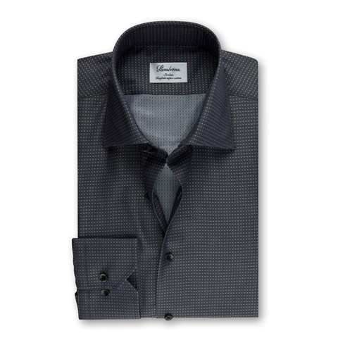 Grey Dotted Slimline Shirt