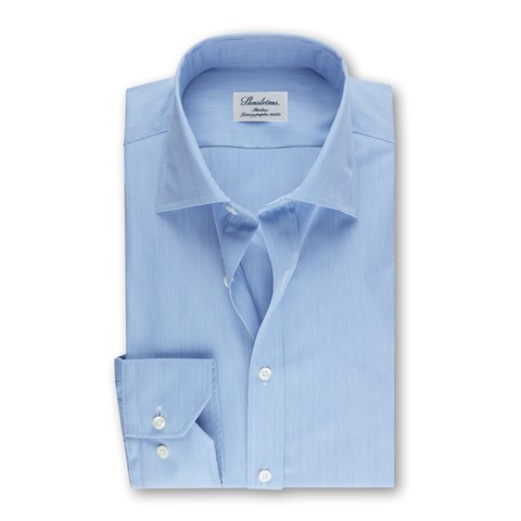 Light Blue Striped Slimline Shirt