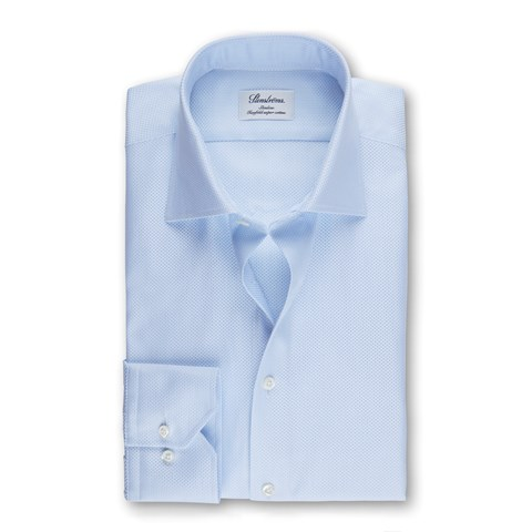 Light Blue Textured Slimline Shirt