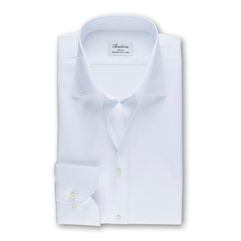 White Slimline Shirt, Extra Long Sleeves