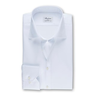 White Slimline Shirt In Superior Twill, Extra Long Sleeves