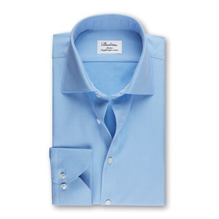 Slimline Shirt Textured Blue