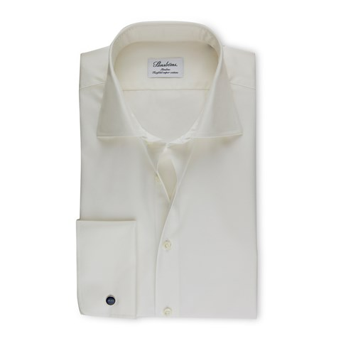 Off-White Slimline Shirt With French Cuffs