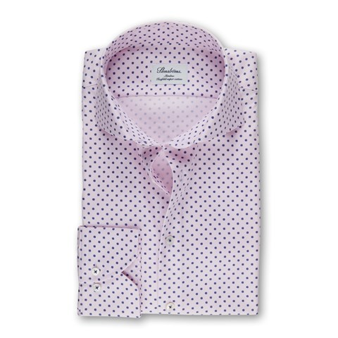Pink Micro Patterned Slimline Shirt