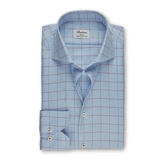 Light Blue Slimline Shirt With Pattern