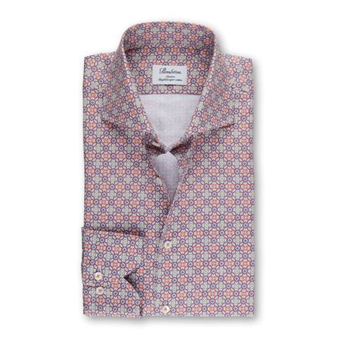 Colorful Patterned Slimline Shirt