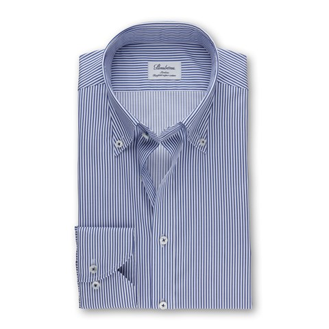 Blue Striped Slimline Shirt