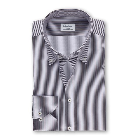 Brown Striped Slimline Shirt