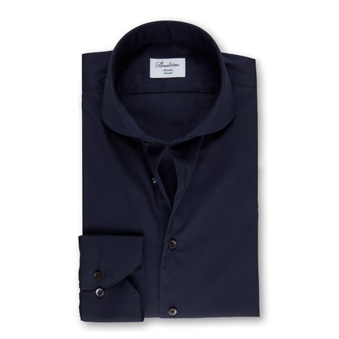 Navy Slimline Shirt, Stretch