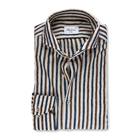 Striped Casual Slimline Shirt