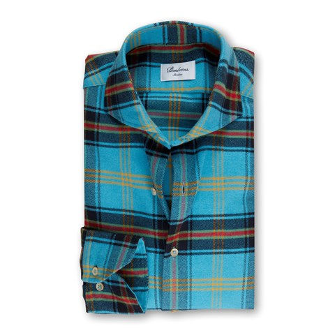 Checked Flannel Slimline Shirt