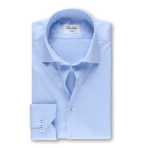 Light Blue Textured Slimline Shirt, Stretch