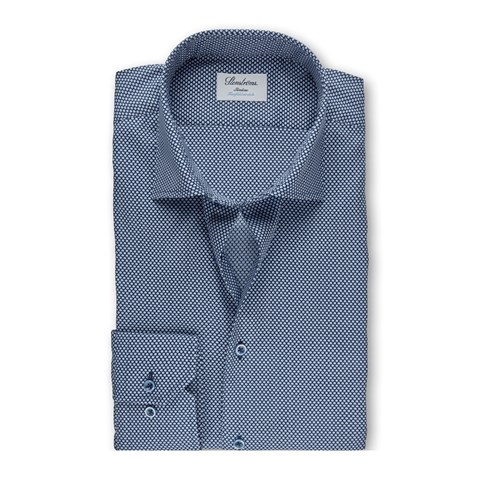 Micro Patterned Slimline Shirt, Stretch