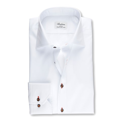 White Slimline Shirt With Details