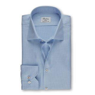 Light Blue Micro Patterned Slimline Shirt