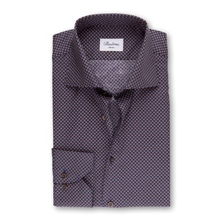 Navy Dotted Slimline Shirt