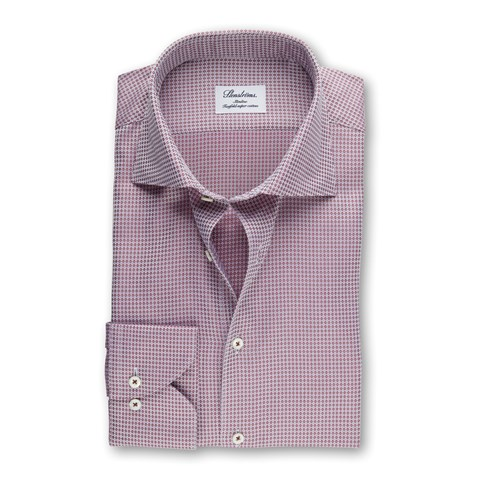 Fuchsia Micro Patterned Slimline Shirt