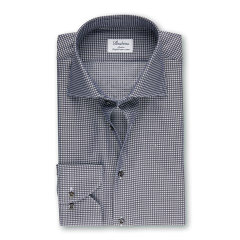 Grey Micro Patterned Slimline Shirt