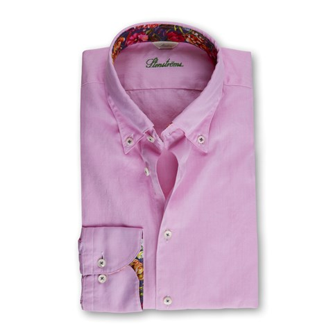 Pink Casual Oxford Slimline Shirt