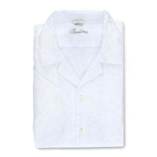 Slimline Linen Shirt W Resort Collar