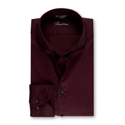 Red Casual Slimline Shirt