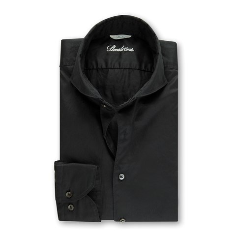 Black Casual Slimline Shirt
