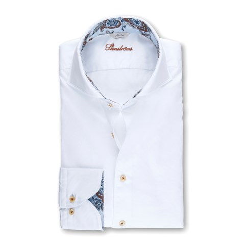 White Casual Slimline Shirt, Short Sleeves