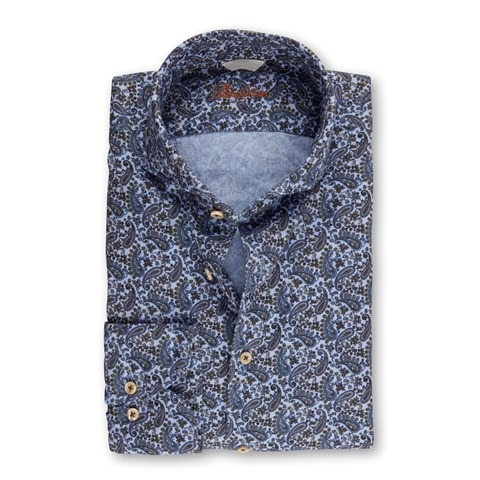 Paisley Patterned Casual Slimline Shirt