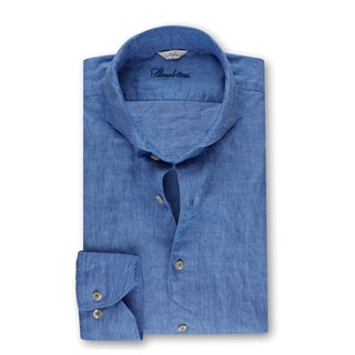Slimline Linen Shirt Heaven Blue
