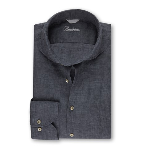 Slimline Linen Shirt Grey