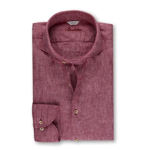 Slimline Linen Shirt Purple