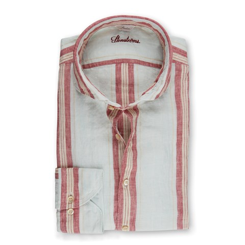 Striped Linen Slimline Shirt